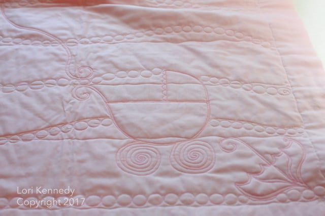 Whole Cloth Baby Quilt, Lori Kennedy
