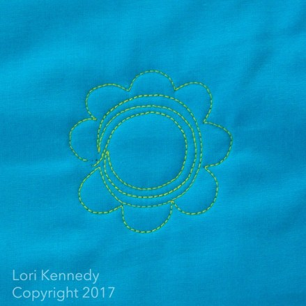 Machine Quilting, Daisy, Lori Kennedy