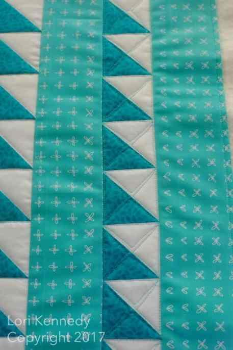 Machine Quilting Half Square Triangles, Lori Kennedy
