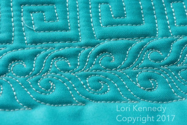 Open Leaf with S;iral, Lori Kennedy, Machine Quilting