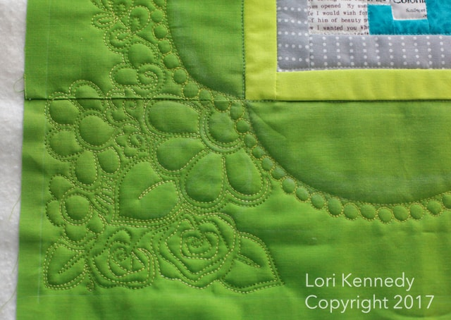 Lori Kennedy, machine quilting, flowers