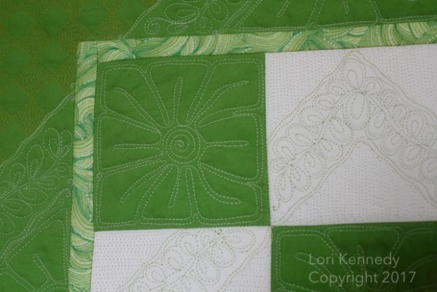 Square Flower, Checkerboard Quilt