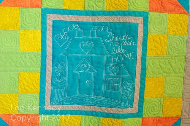 Lori Kennedy, Machine Quilting, I Love Home, Jacquelynne Steves