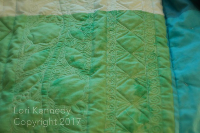 Free Motion Quilting, Back of Quilt