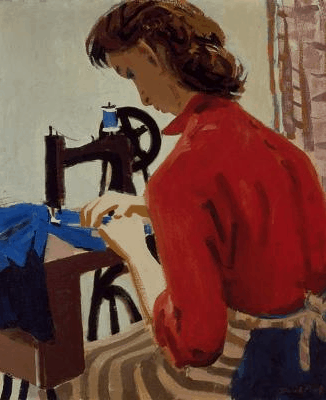 David Park, Lydia at the Sewing Machine