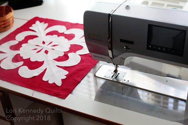 Work in progress hawaiian appliqué wedding quilt lori kennedy quilts