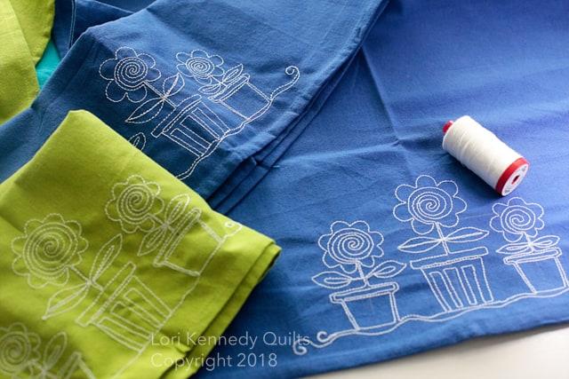 Machine Embroidered Towels, Lori Kennedy