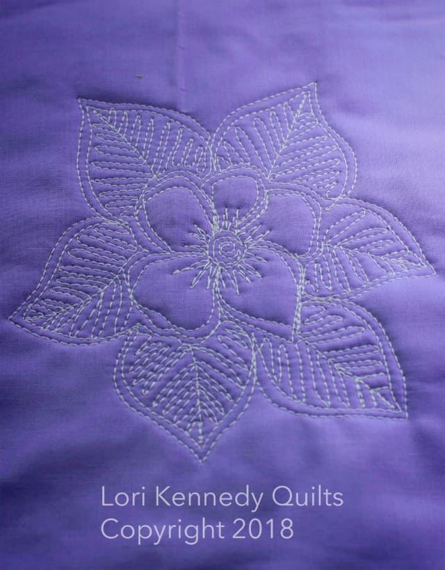 Machine Quilting, Flowers and Leaves, Lori Kennedy