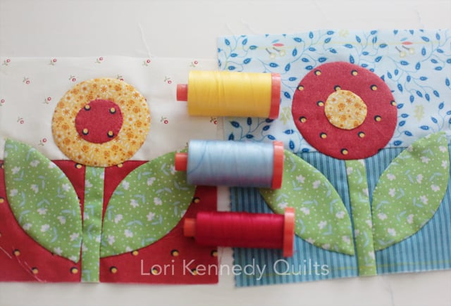 Rose and Dot Block, Lori Kennedy, The Splendid Sampler 2