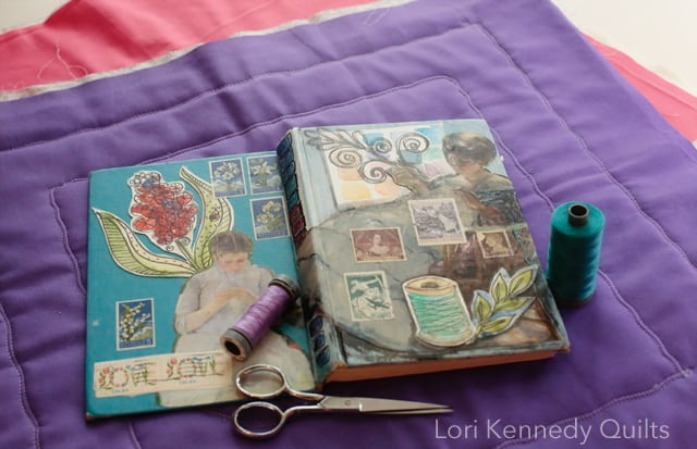 Altered book, Lori Kennedy Quilts