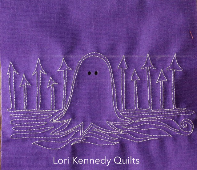 Ghastly Ghost, Machine Quilting
