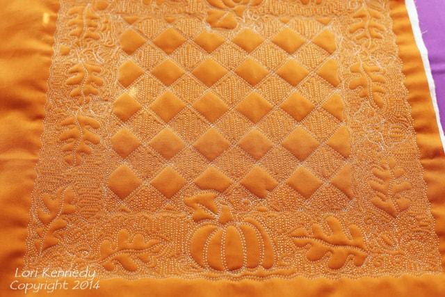 Free Motion Quilting, Pumpkin, Acorn, Oak Leaf