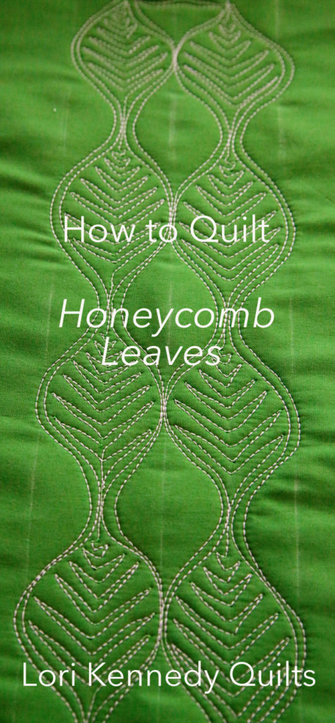 How to Quilt a Leaf Motif