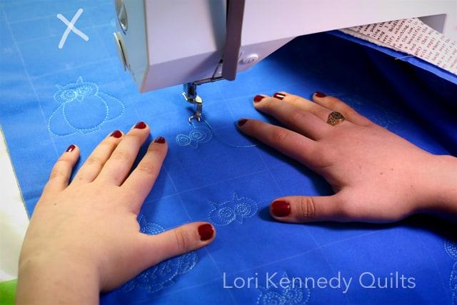 Machine Quilting, Hand Position