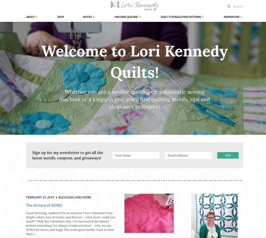 Lori Kennedy Website Design