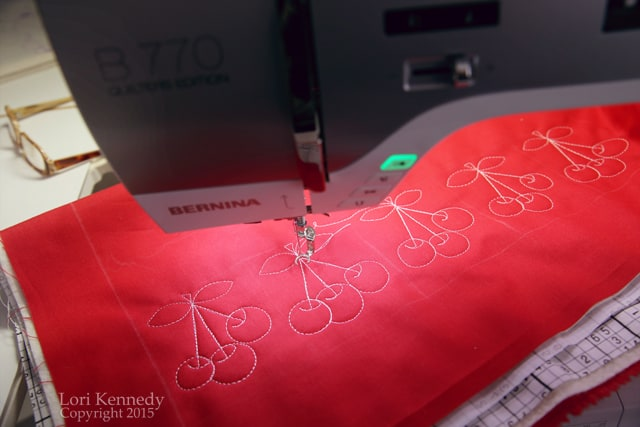 Cherries, Free Motion Quilting, BERNINA 770QE