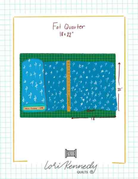 Fat Quarter Illustration, Fabric on a bolt illustration