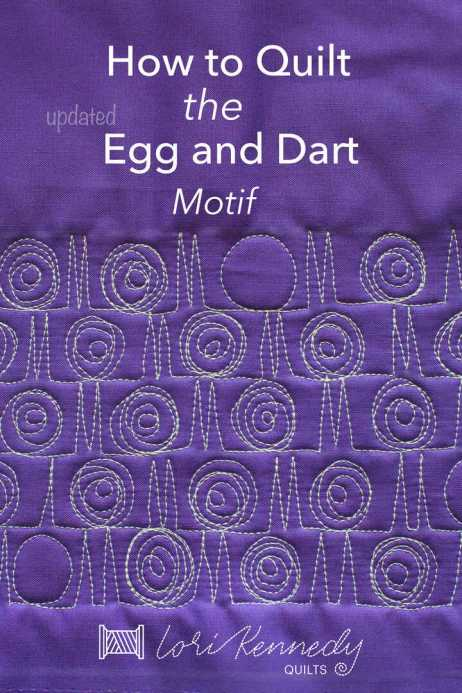 Egg and Dart Quilting Motif