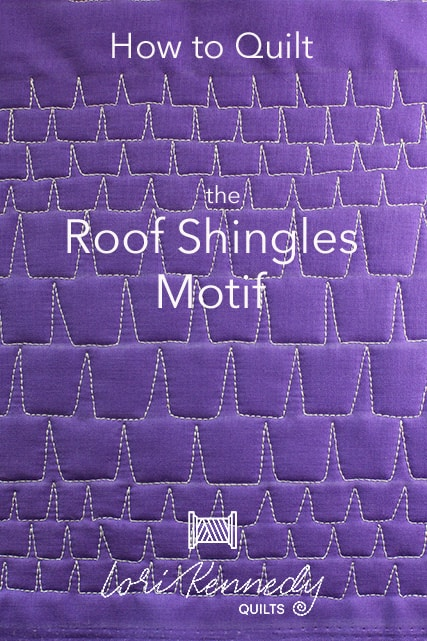 Roof Shingles Machine Quilting Tutorial