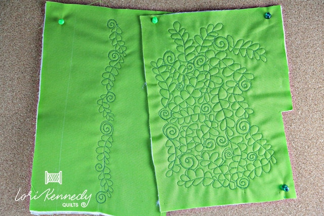 How to machine quilt Ferns and Fiddleheads