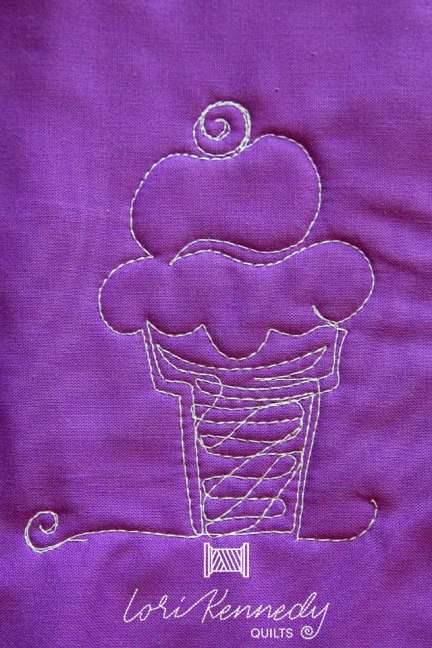 Save calories by quilting an ice cream cone motif