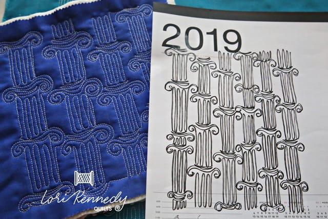 Doodle and Stitch Roman Columns
