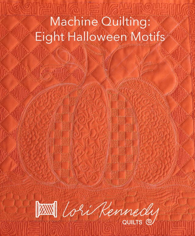 Machine Quilting Halloween Patterns