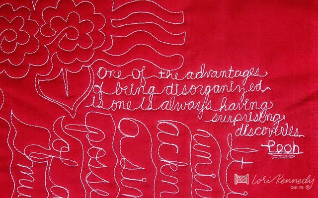 how to add handwriting to quilts