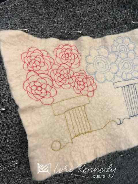Quilting on Wool
