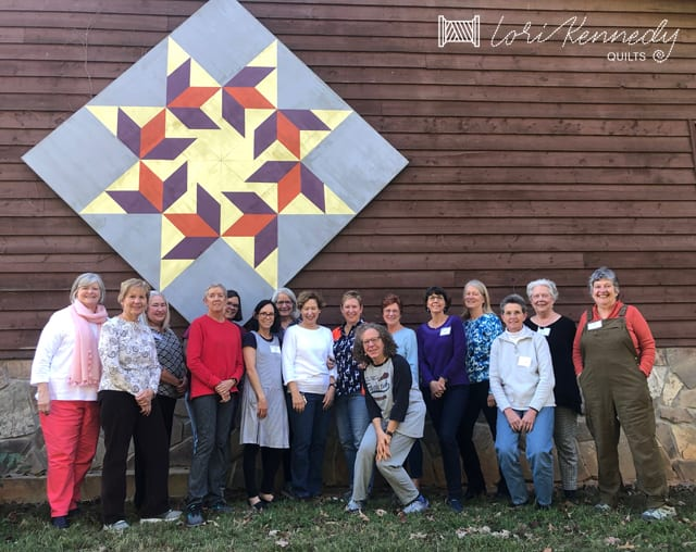 the Exploring Machine Quilting class at JCCFS