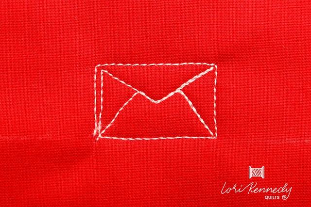 Back side of the envelope pattern
