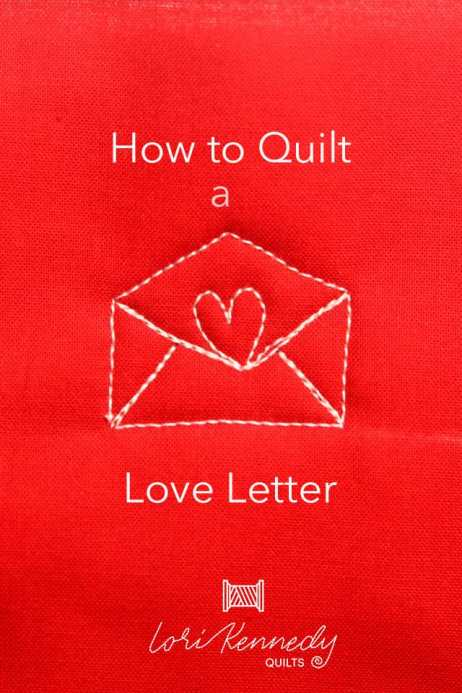 How to quilt an envelope pattern