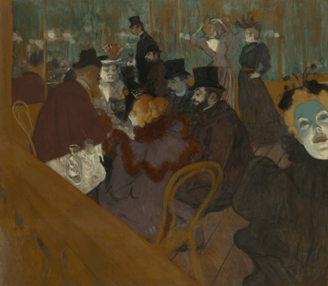 At the Moulin Rouge-Toulouse-Lautrec