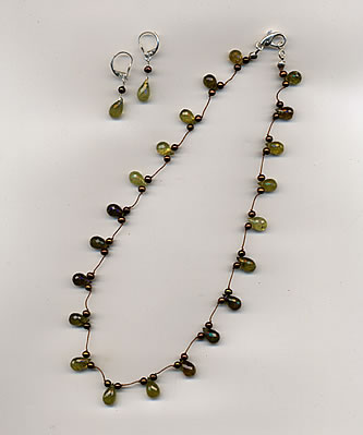 Sold - Available to Order - Green Garnet Briolette
