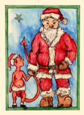 Santa and the Devil Elf - DX-A03 $4