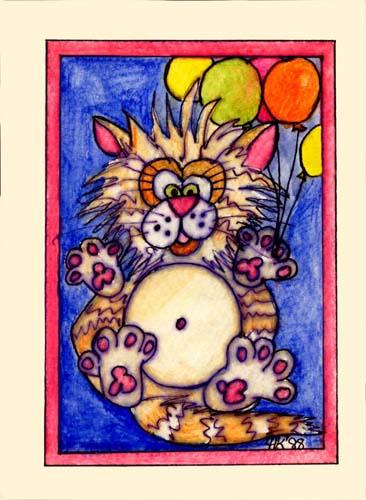 Birthday Cat - ITKbd88 $4