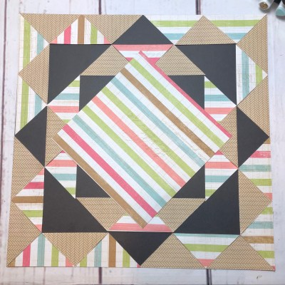 Triangle Scrapbook Page