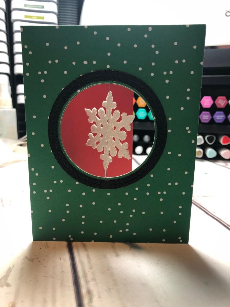 Snowflake Spinner Card