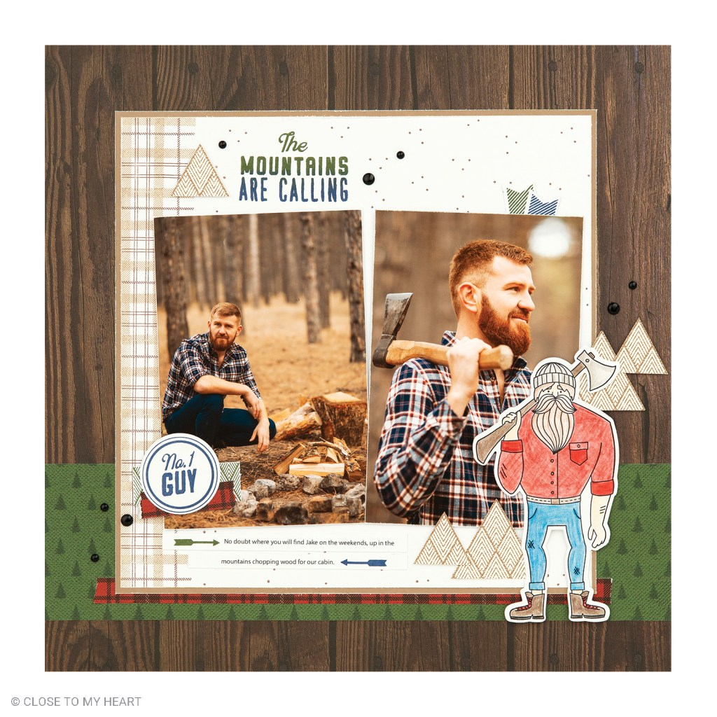 Scrapbooking Stamp and Thin Cuts - Timber
