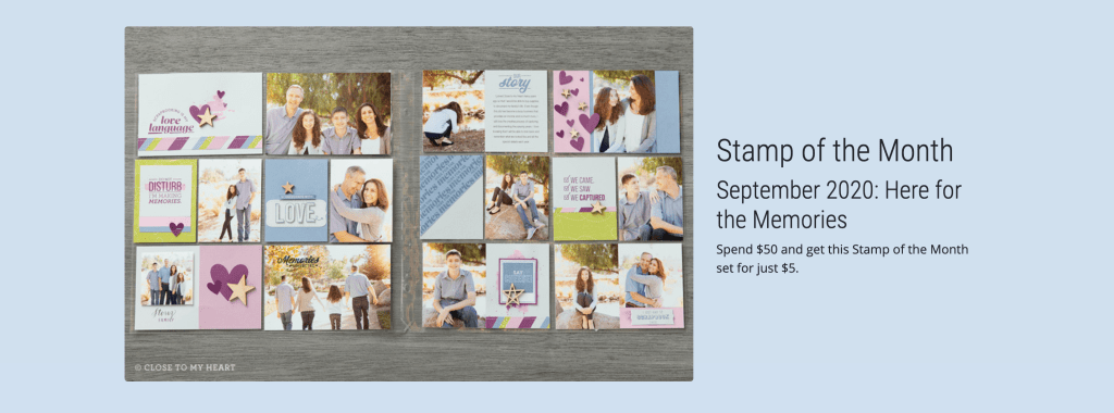 Here for the Memories - Stamp of the Month