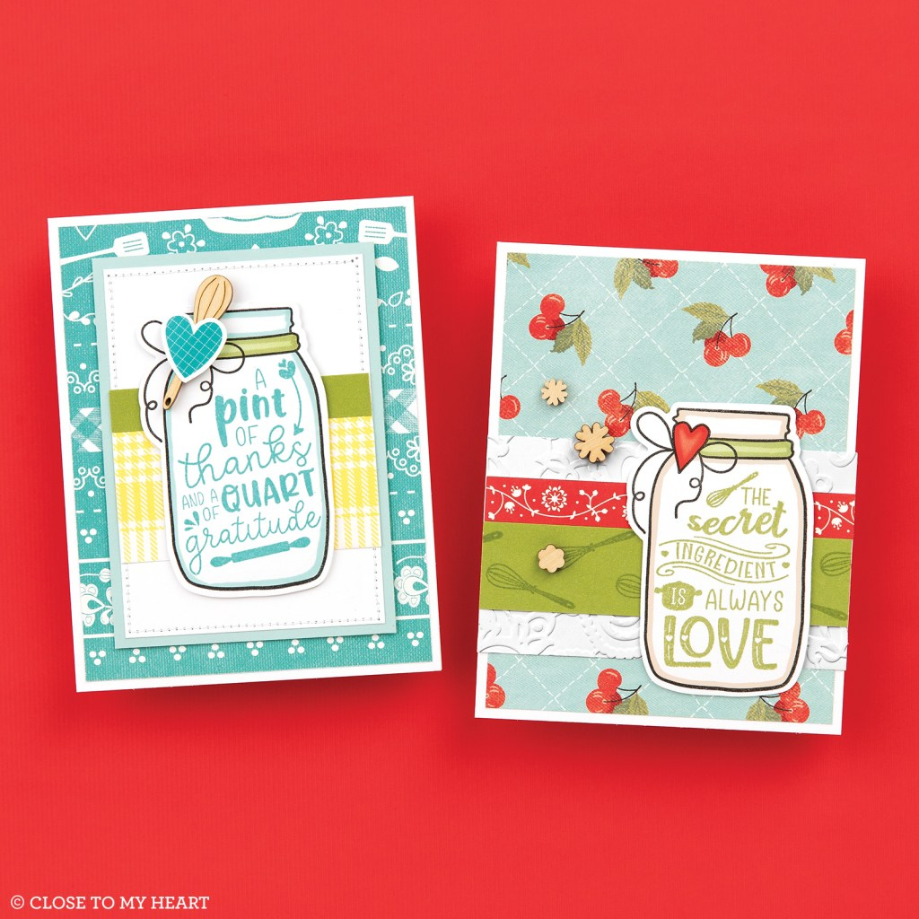 Cardmaking Stamp and Thin Cuts - Eat Pray Love