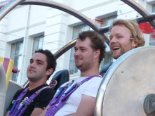 Stu, Ryan, and Dan getting ready to launch