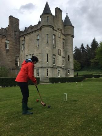 Croquet at the castle