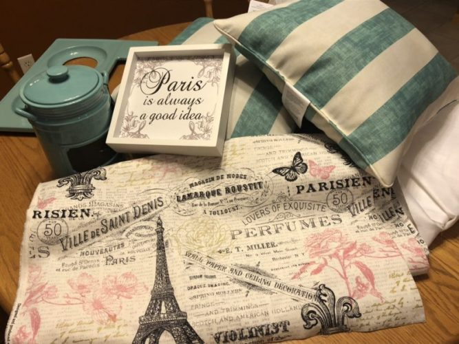Curtain fabric and my Big Lot finds