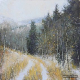 ©2017 Lori McNee Early Winter Walk 20x20 Oil on linen