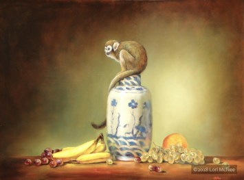 ©2010 Lori McNee Monkey in the Middle 30x40 Oil on panel