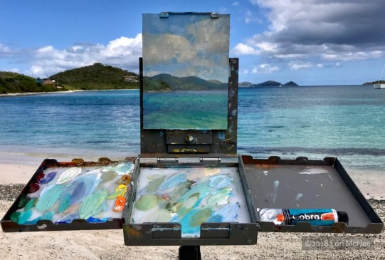 ©2017 Lori McNee Plein air painting in the Virgin Islands