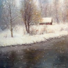 ©2016 Lori McNee Snowy Day 20x20 Oil on linen