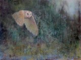 ©2014 Lori McNee Out of the Darkness 36x48 Encaustic
