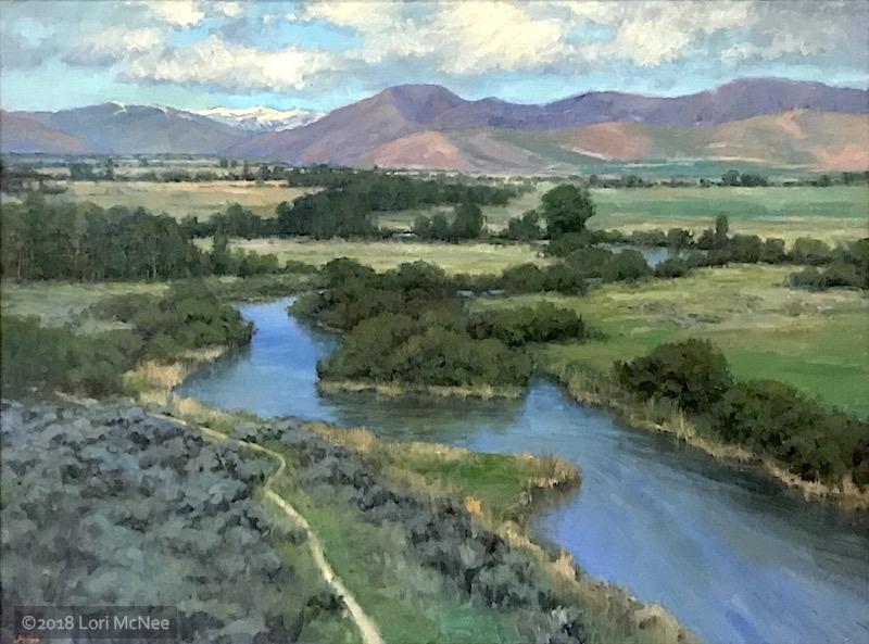 ©2018 Lori McNee Silver Creek - Early Summer 30x40 Oil on canvas